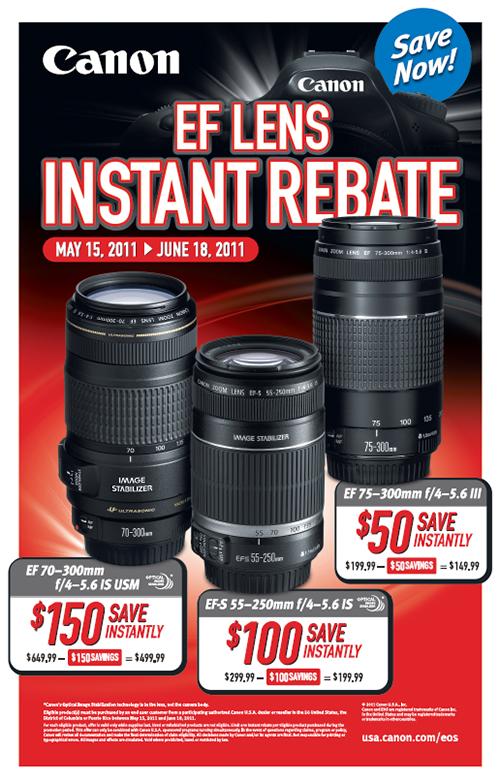 Canon lens rebate instant save telephoto zoom