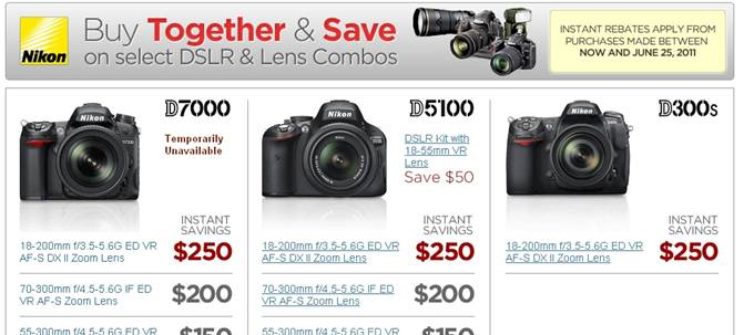 Nikon dslr camera sale savings rebate b and h B&H