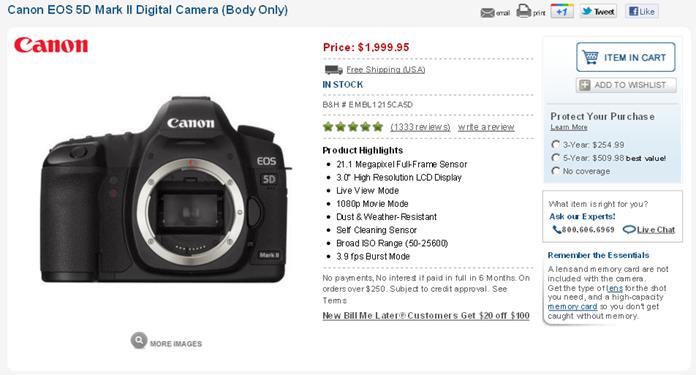 Canon 5D mark mk II low lowest price sale