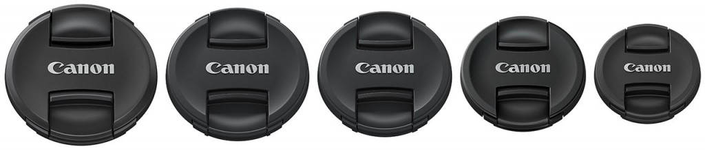 Canon lens cap center centre pinch new