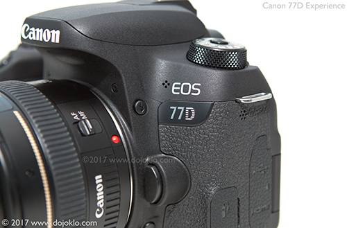 Canon 77D body controls button dials