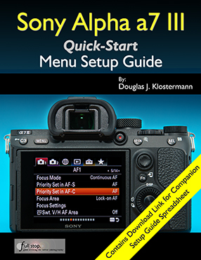 Sony Alpha a7 III menu setup guide manual tips tricks how to