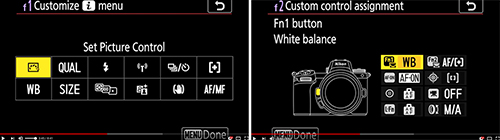 Nikon Z 7 Z 6 Custom Settings menu suggested setting setup