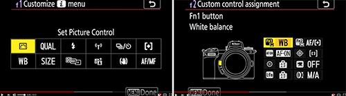 Nikon Z 7 Z 6 Custom Settings menu suggested setting setup