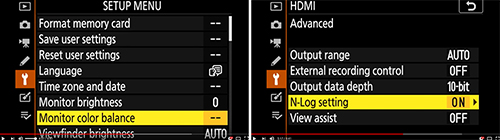 Nikon Z 7 Z 6 Custom Setting menu setup options